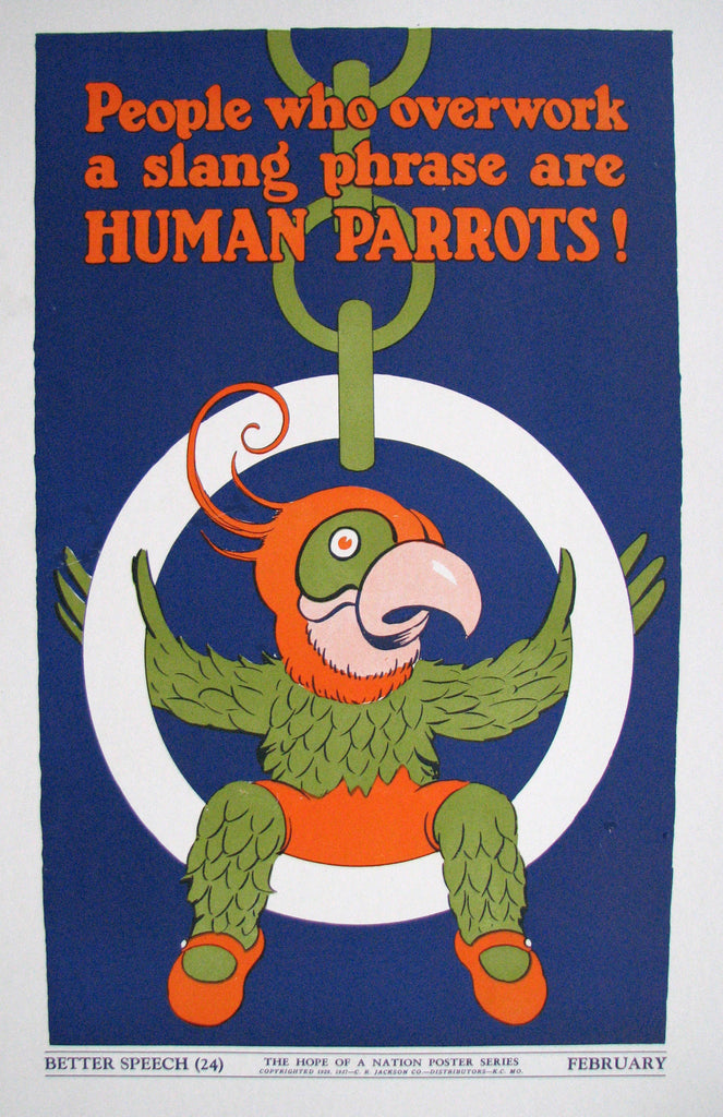 1937 Hope of a Nation Vintage Parrot WPA era Poster