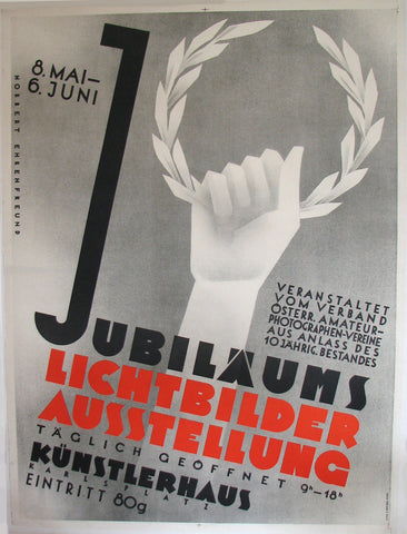 1930's Vienna Austria Jubilaums Photography Expo Vintage Poster