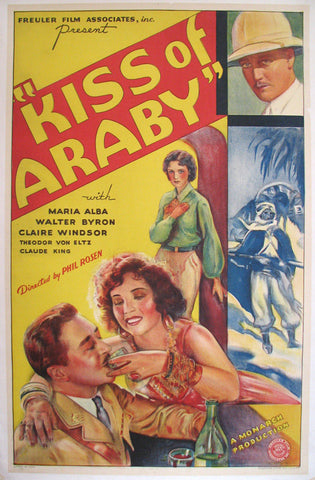 1933 Kiss of Araby Vintage Art Deco Movie Poster