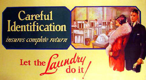 1920's Laundry & Dry Cleaning Vintage American Fashion Poster
