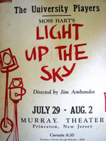 1958 Moss Hart Light Up The Sky Jim Ambandos Princeton Poster