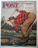 1946 Stevan Dohanos Saturday Eve Post Logging Forestry Poster
