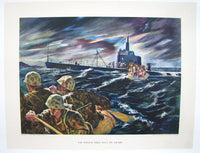 1944 Vintage WWII WW2 Marine Assault Electric Boat Co. Poster Print