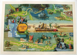 1959 Mark Twain Decorative Vintage Antique Map Poster by Everett Henry