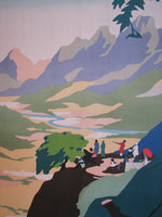 1930's Vintage Matheran India Travel Poster by Bidwell