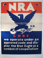 1930 National Recovery Act Vintage Poster Charles Coiner NRA