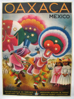 1943 Art Deco Oaxaca Mexico Travel Poster by Miguel Covarrubias