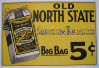 1910 Old North State Vintage Kentucky Tobacco Advertising Poster Sign