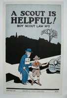1937 Hope of a Nation Boy Scout WPA era Vintage Poster