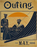 1896 Jean Carre Outing Literary Sports Magazine Vintage Poster