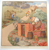 1930's British 3 Little Pigs Fairy Tale Vintage Children's Poster