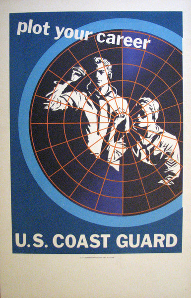 1952 US Coast Guard Recruitment Poster: Plot your Career