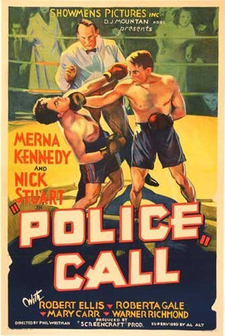 1930's Police Call Vintage Sports & Boxing Movie Poster