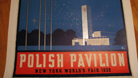 1939 NY World's Fair Poland Polish Pavilion Vintage Poster