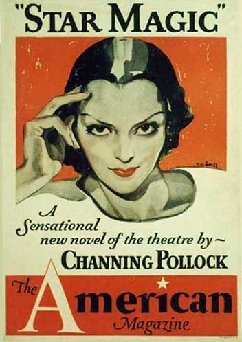 1933 Vintage Art Deco Channing Pollock Literary Poster by CC Beall