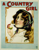 "1902 Original ""A Country Girl"" Vintage British Theater Poster"
