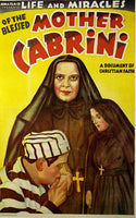 1920's NYC Italian Mother Cabrini Vintage Silent Movie Poster
