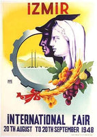 1948 International Fair Izmir Turkey Vintage Turkish Travel Poster