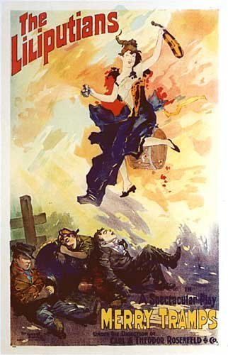"1890's ""The Liliputians"" Vintage French Theater Poster"