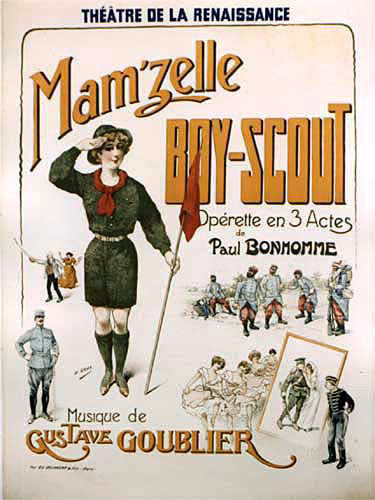 1900 Mam'Zelle Boy Scout Vintage French Opera Poster