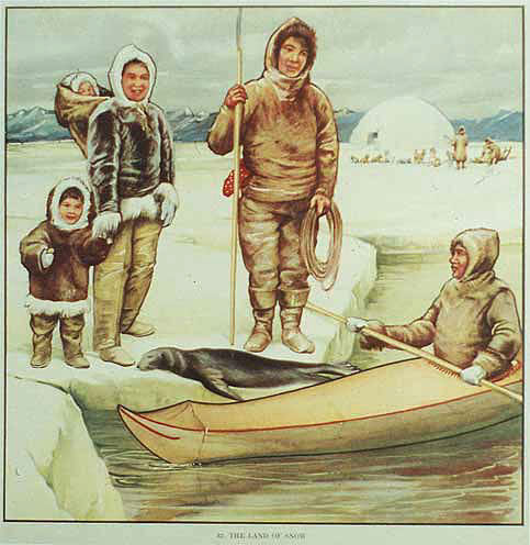 1930s Alaska Original British Inuit Vintage Children's Poster
