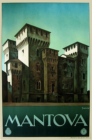 1930 Mantova Italy ENIT Vintage Italian Travel Poster by Guerrini