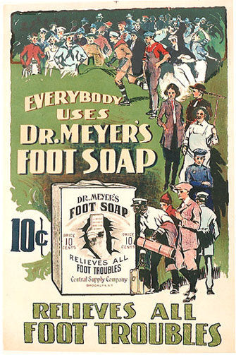 1910 Dr. Meyers Foot Doctor Vintage Medical Podiatry Poster