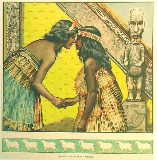 1930's Maori New Zealand Vintage British Children's Poster