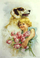 1916 Wilson Chemical Co Vintage Victorian Dog Poster Tyrone PA