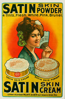 1903 Satin Skin Powder Vintage Fashion Cosmetics Poster