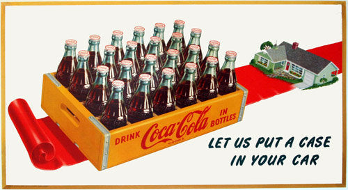 1952 Vintage Coke Coca Cola Poster Sign