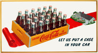 1952 Case of Coke Coca Cola American Advertising Sign Poster