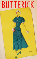 1930's Art Deco Butterick Patterns Vintage Fashion Sewing Poster