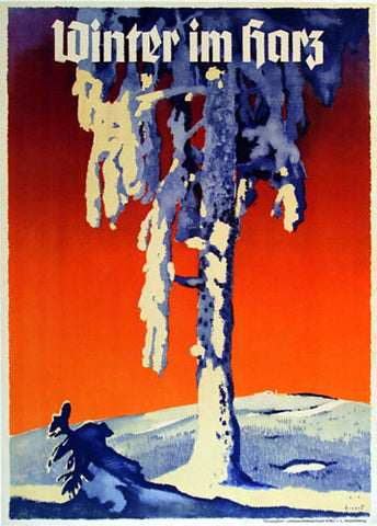 1930's Harz Germany Vintage Travel Poster by Jupp Wiertz