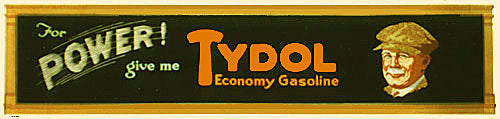 1920's Tydol Original Vintage Gasoline Advertising Poster