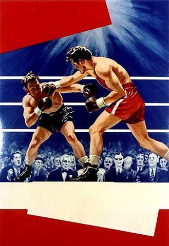 1930-40's Art Deco American Sports Vintage Boxing Poster