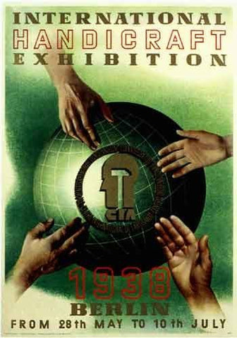 1938 Handicraft Exhibition Berlin Germany Vintage Travel Poster