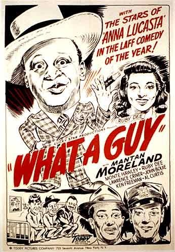 "1948 African American 'What a Guy"" Mantan Moreland Movie Poster"