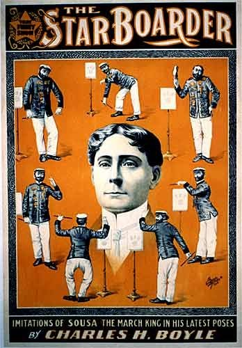 1890's Victorian Charles H. Boyle as John Philips Sousa Music Poster