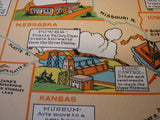 1930's PWA Public Works Administration Vintage WPA era Poster Map