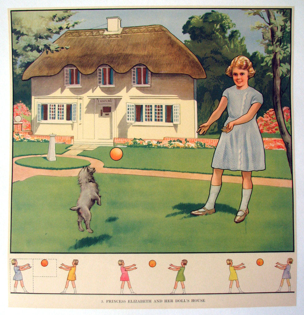 1930's Princess Elizabeth Vintage British Children's Poster (Queen)