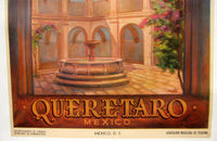 1950's Original Art Deco Queretaro Mexico Travel Poster