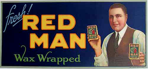 1920's Red Man Cigar Vintage Advertising Poster Sign