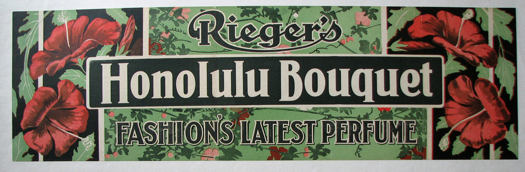 1900 Rieger's Honolulu Bouquet Vintage Perfume Poster