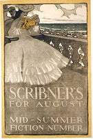 1890's Scribner's August Vintage Literary Poster by Wall