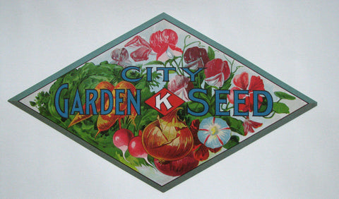 1900 City K Antique Vintage Victorian Seed Poster Label Sign