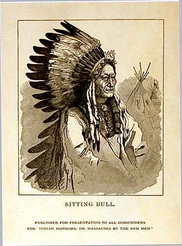 1891 Sitting Bull Vintage Literary Poster for Henry Northrup Book