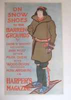 1896 Edward Penfield Vintage Literary Snow Shoes Poster