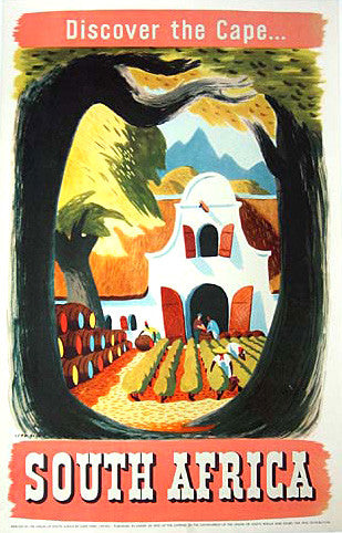 1950's Leng Dixon, Artist, Vintage South Africa Travel Poster