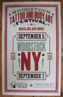 1990's Natural American Spirit Cigarettes Woodstock Tattoo Fest Poster